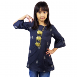 Kids 3/4 Bell Sleeve Top- Grey (ak299k)